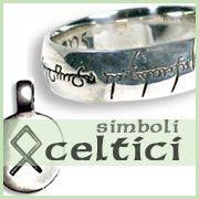 Ethnos, Gioielli e Simboli della cultura celtica, monili irlandesi e del Nord europa, anello Signore degli Anelli.