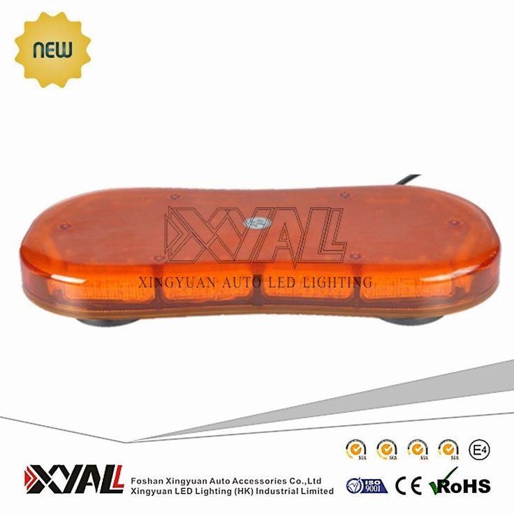 mini led light bar 36W Amber led mini light LED emergency warning light with magnetic base/bracket base