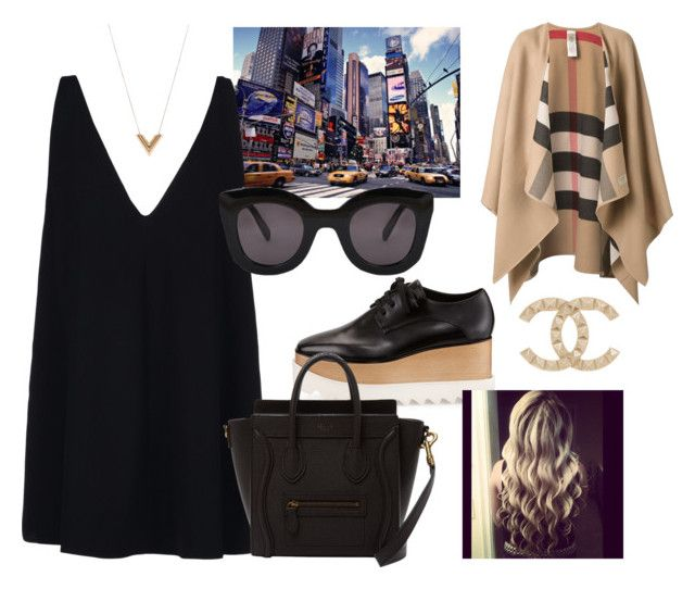 """""""Untitled #8"""" by laczolaura on Polyvore featuring STELLA McCARTNEY, CÉLINE, Burberry, Chanel and Louis Vuitton"""