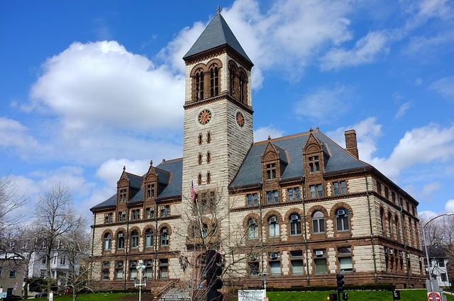 Cambridge City Hall on Mass. Ave in Central Square. DiscoverCentralSquare.com