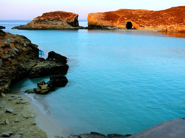 Before the arrival of the crowds: Comino's Blue Lagoon, the Mediterranean, Europe