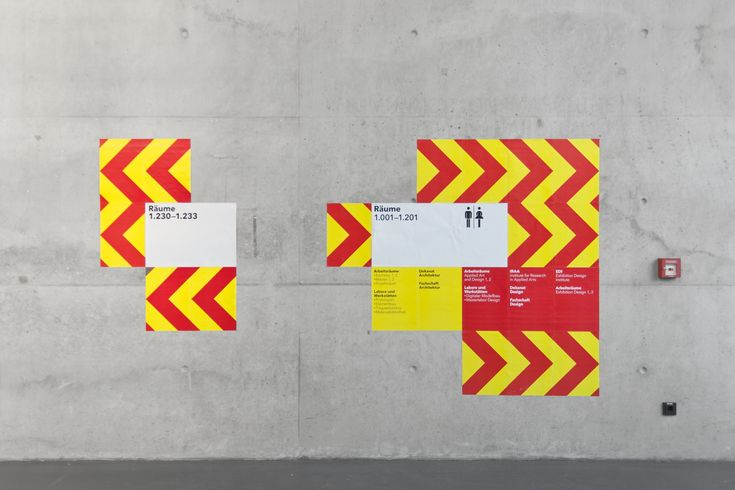 modular + signage, via graphic design layout, identity systems and great type lock-ups.