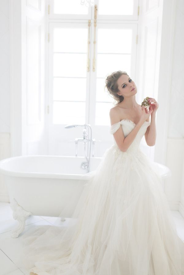 20 of the Sweetest Off-the-Shoulder Wedding Dresses - Alea Lovely