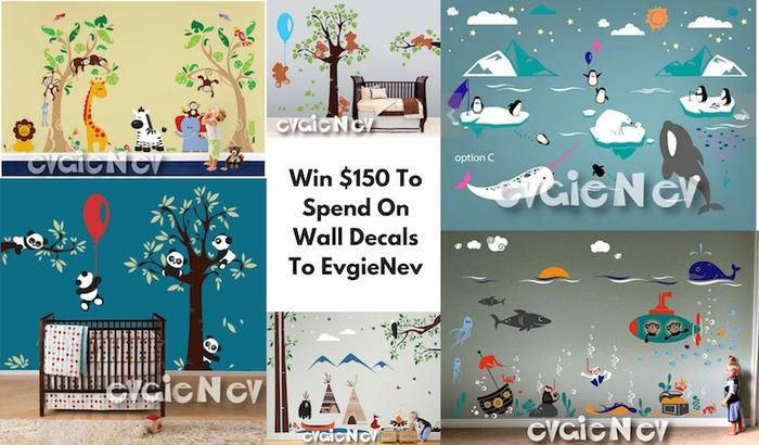 Give a new look to your room. Redecorate rooms with animals, birds, ocean or landscape themed removable vinyl wall decals. Win $150 to spend on wall decor.