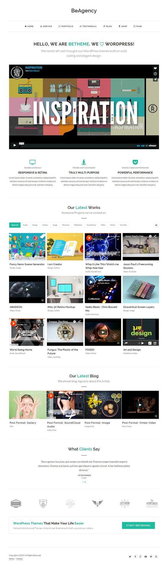 7 best best Portfolio Wordpress Themes images on Pinterest ...