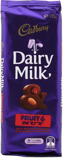Cadbury Fruit & Nut 135gm