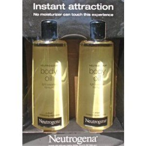 2 Pack of Neutrogena Body Oil Light Sesame Formula, 2 - 16 fl. oz bottles, Total of 32 fl. oz.