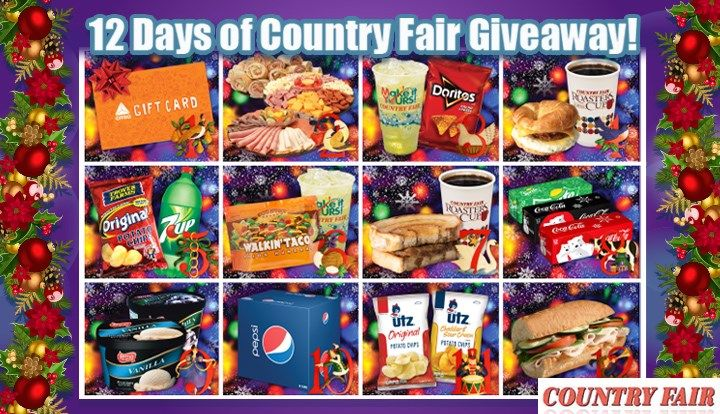 Enter the 12 Days of Country Fair Sweepstakes to win CITGO Cash Cards, Free Breakfast Combos, Free Pizza & more!