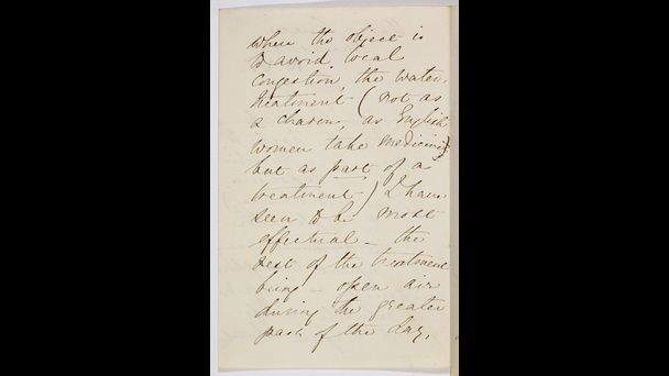 Letter from Florence Nightingale describing the benefits of clean air - Florence Nightingale believed in the miasma theory. The miracles she achieved in the Crimean War hospitals resulted from her insistence that bad smells must be eradicated by thorough cleaning.