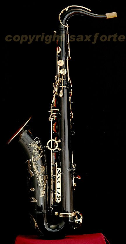 Black Nickel Finish Tenor Saxophone - Google Image Result for http://saxforte.com/saxophones/Bb_Tenor/Bb_Tenor_Selmer/Serie_III_Tenor/Serie_III_Black_Tenor/s3tb1b.JPG