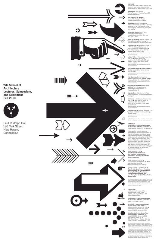 Michael Beirut / Pentagram / Yale School of Architecture / Lectures, Symposium and Exhibitions, Fall 2010 / Poster / 2010