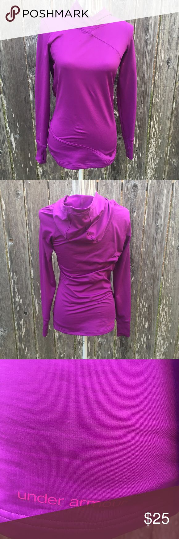 Under Armour ColdGear Purple Pullover Sz Small Under Armour ColdGear Purple Hooded Pullover Size Small Under Armour Tops Sweatshirts & Hoodies