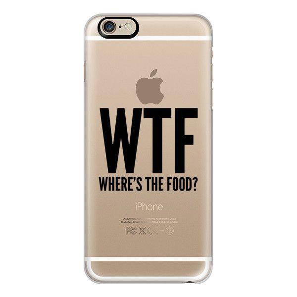 iPhone 6 Plus/6/5/5s/5c Case - WTF - Where's The Food? ($40) ❤ liked on Polyvore featuring accessories, tech accessories, iphone case, slim iphone case, apple iphone cases and iphone cover case #Iphone6