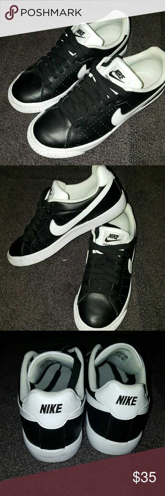 Like New Nike Court shoes Hardly ever worn black and white leather Nike Court Tour shoes Nike Shoes Sneakers