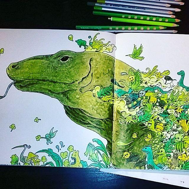 #animorphia #varan #komododragon #coloringbook #coloringforadults #fargelegging…