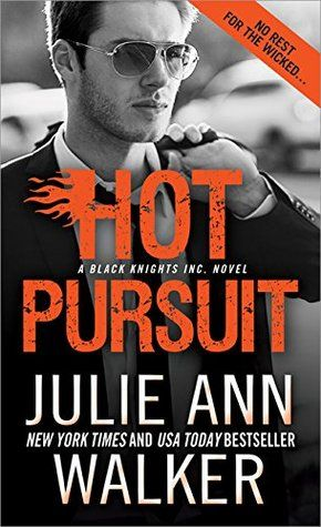Hot Pursuit by Julie Ann Walker (Black Knight Inc #11)  Simply addicting, the group at BKI is a family unit that draws the reader in an keeps them invested till the end.  http://tometender.blogspot.com/2017/10/hot-pursuit-by-julie-ann-walker-black.html.