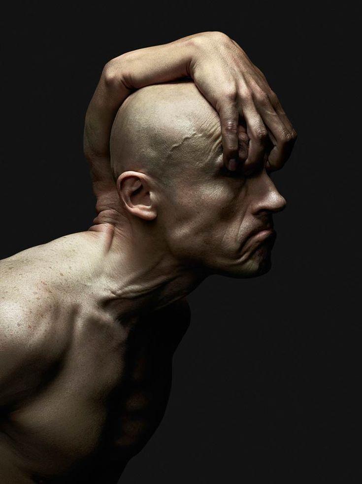 Dupla belga cria retratos surreais utilizando hibridismo entre as partes do corpo