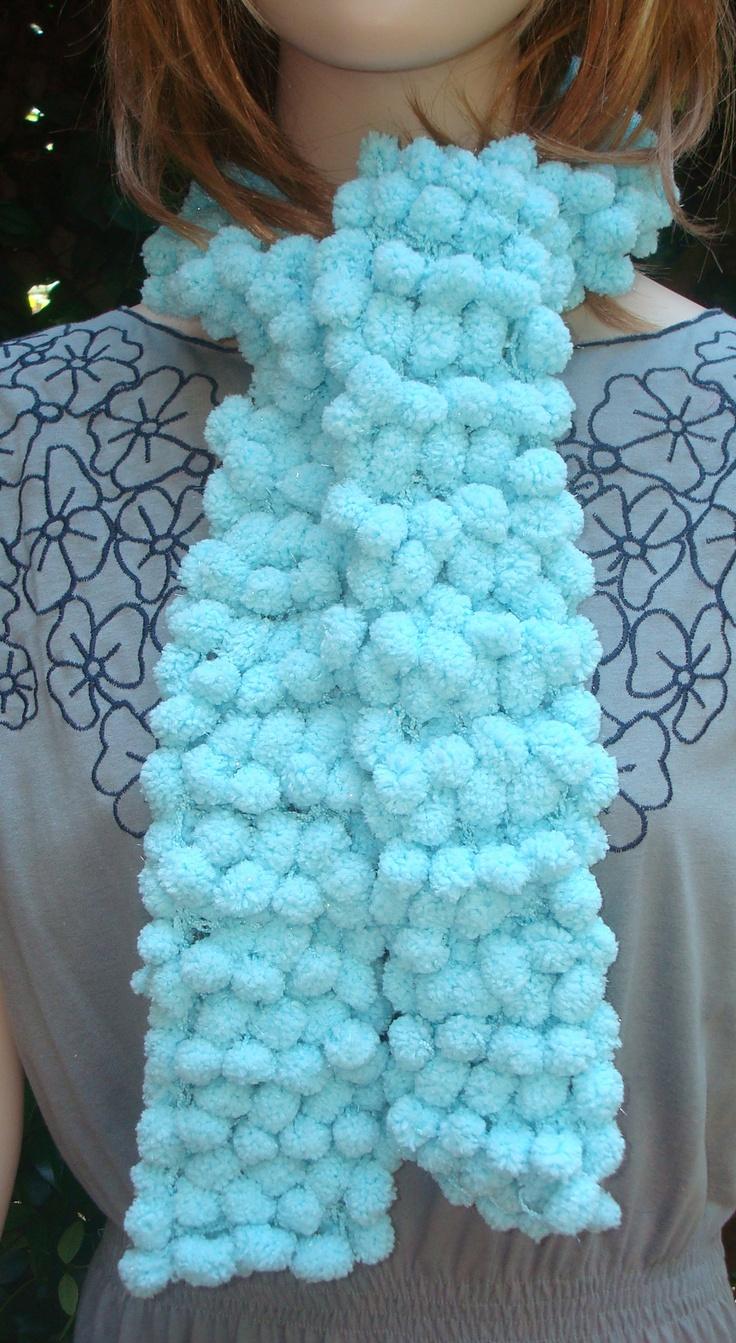 Pom Pom Yarn Knitting Patterns : CANEY LAKE WAVES RUFFLED SCARF KIT - Yarn, Knit & Crochet Pattern http://...