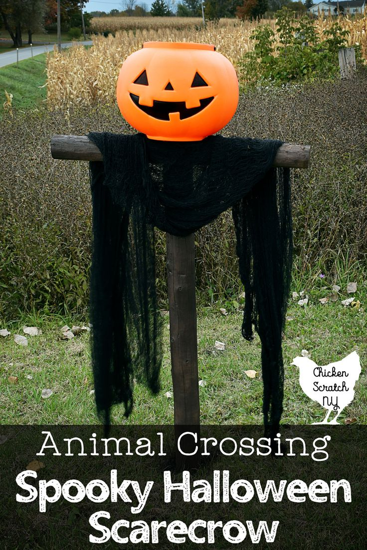 Animal Crossing Inspired Halloween Spooky Scarecrow in
