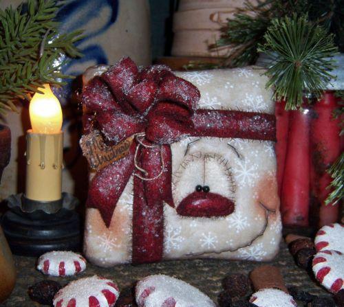 "Primitive Frosty Snowflake Christmas Gift 5"" Snowman Doll ★ Patti's Ratties Bear"