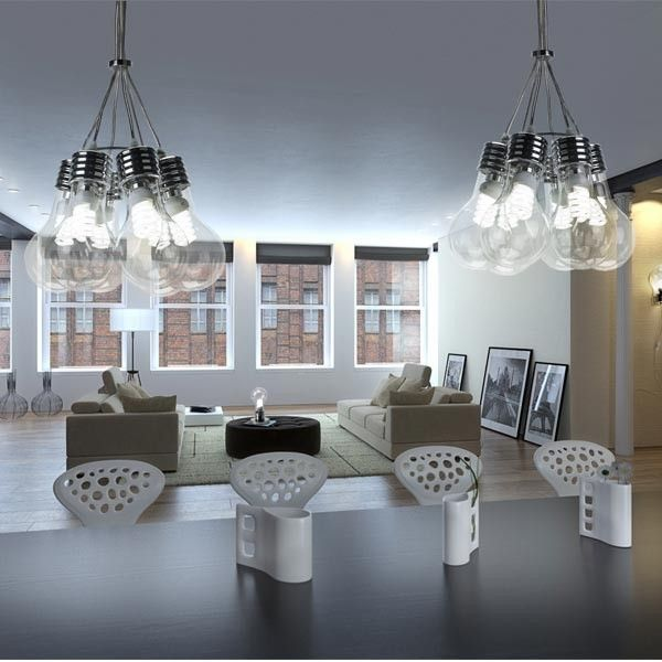 L mpara bombill n new bull 6 luces forma de 6 bombillas grandes perfecta para iluminar de - Lamparas bombilla gigante ...
