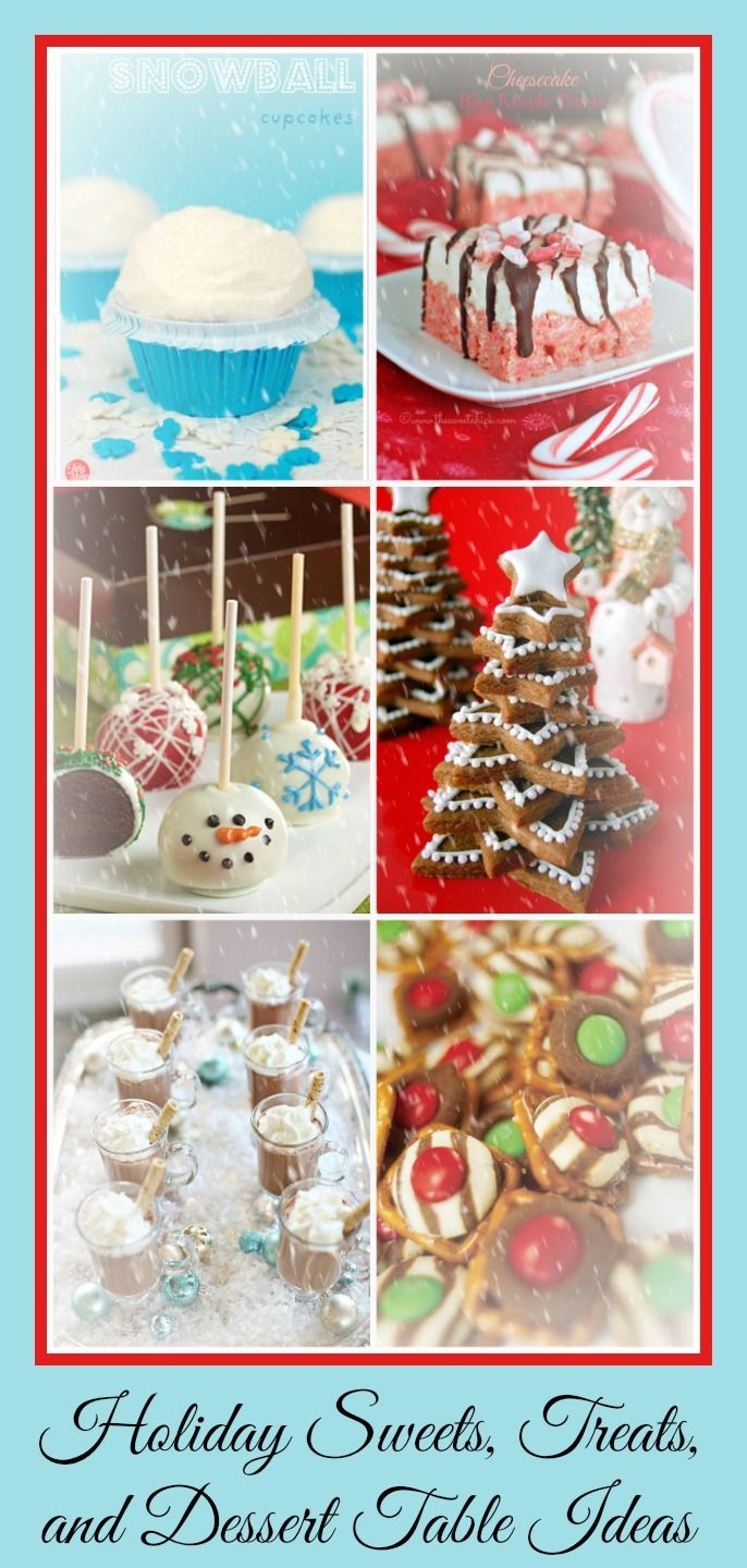Christmas dessert table decoration ideas - Sweet Christmas Treats And Table Decorating Ideas