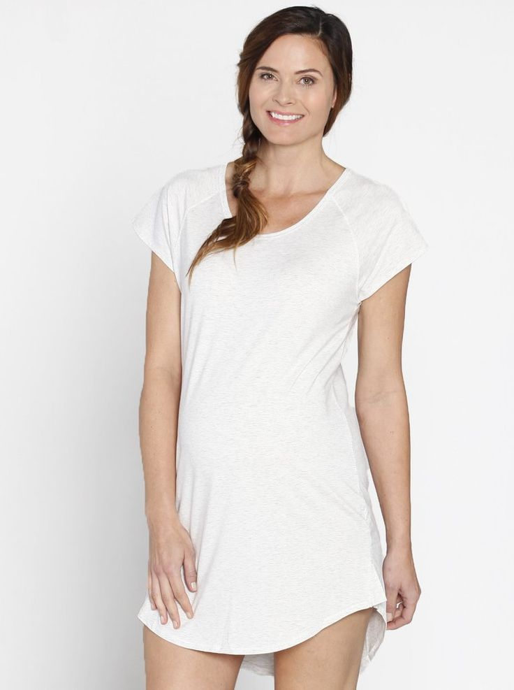 Loose Fit Night Sleepwear Dress - Grey, just $19.95 down from $39.95, is comfy, stylish and  perfect for your hospital stay and beyond.