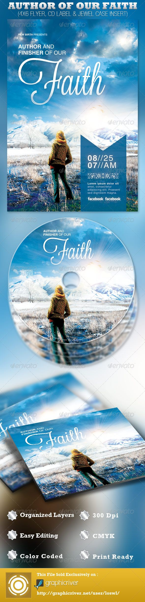 17 best images about church design ideas layout author of our faith church flyer and cd template