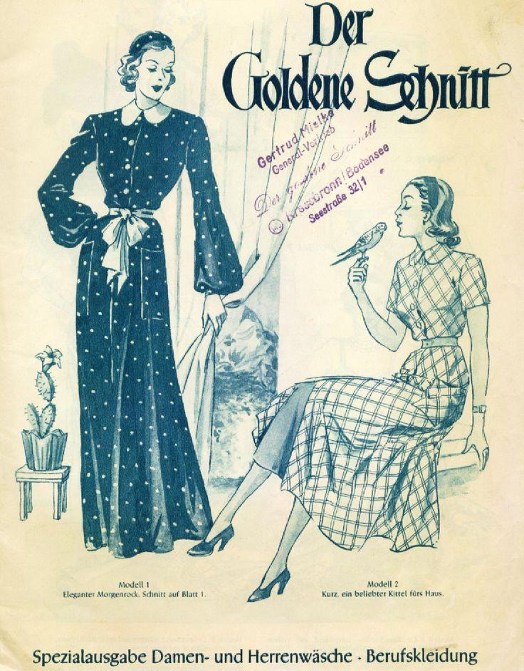 Der goldene schnitte women and men's  Lutterloh, vintage patterns, vintage fashion, pattern drafting, custom size patterns