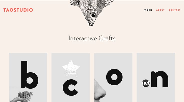 Tao Studio - Bold cover images and clever animations. #webdesign #portfolio