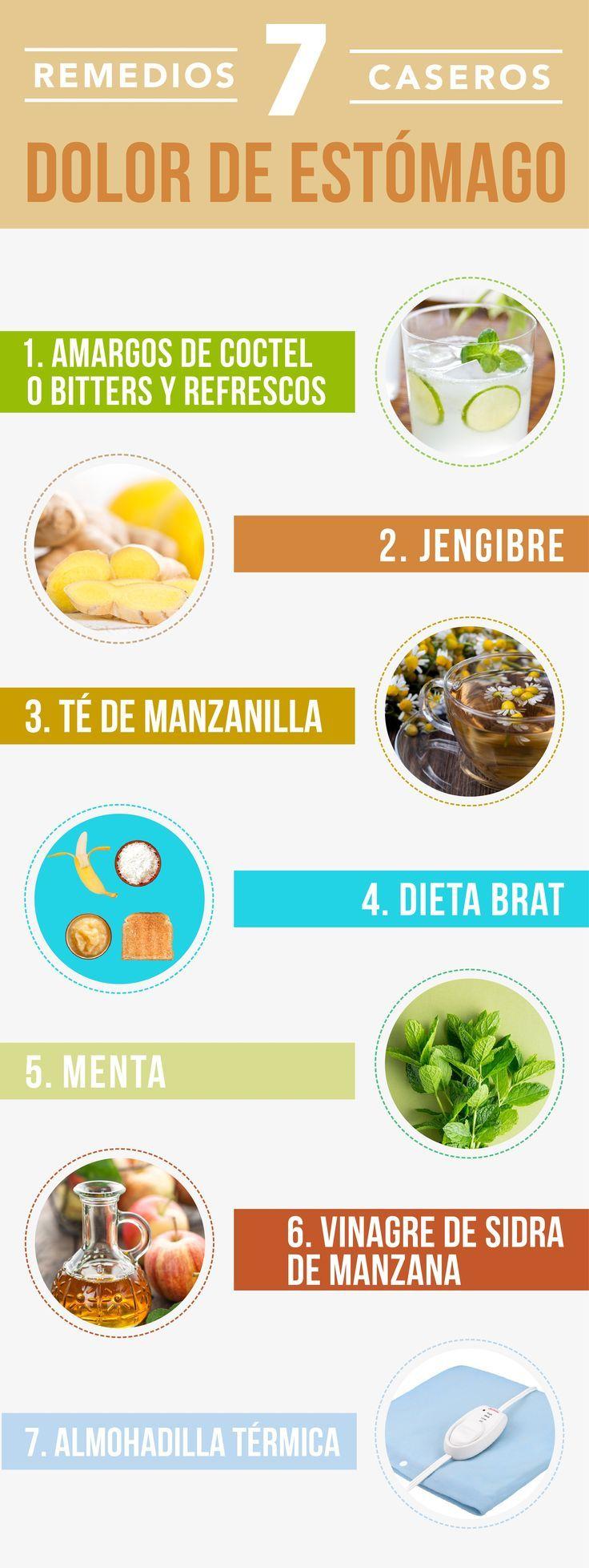 7 Remedios Caseros Para El Dolor De Estómago 100 Naturales Health Healthy Tips