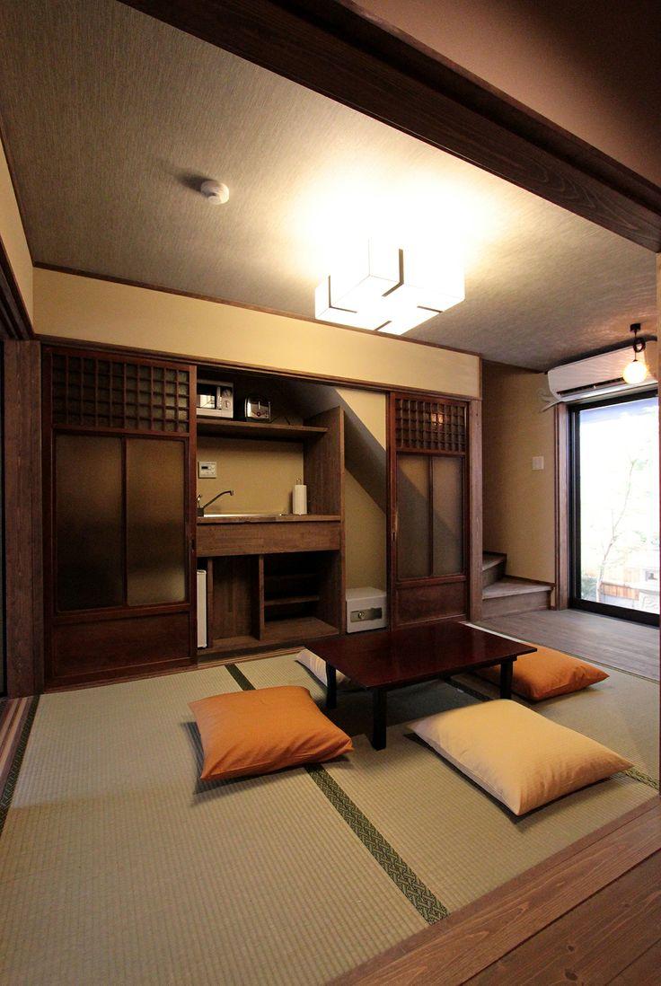 京都の伝統家屋 町家の貸切の宿 明倫こがね庵_和室 kyoyadoya Japan kyoto machiya inn