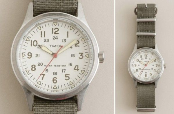 J Crew - Timex Military Watch. go great with my military belt and my military shirts and my military style track jacket
