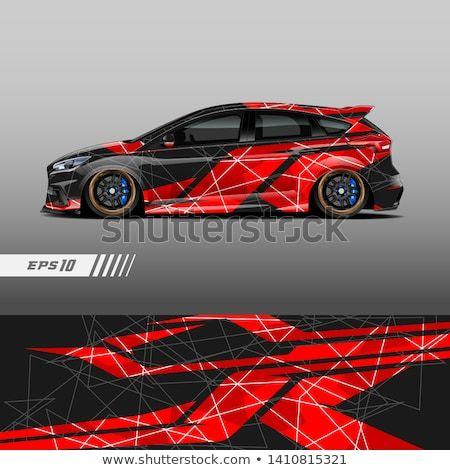 Rennwagen Aufkleber Wrap Design. Grafik abstrakte Streifen Racing Hintergrund Kit …   – Zeichnungen