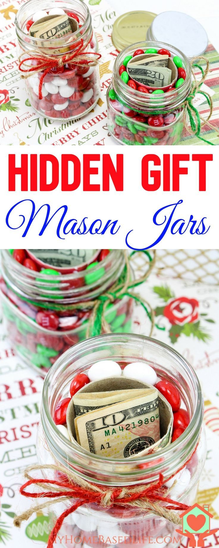 Hidden Gift Jars | Christmas Gift Jars | Gifts in a Jar | Christmas ...