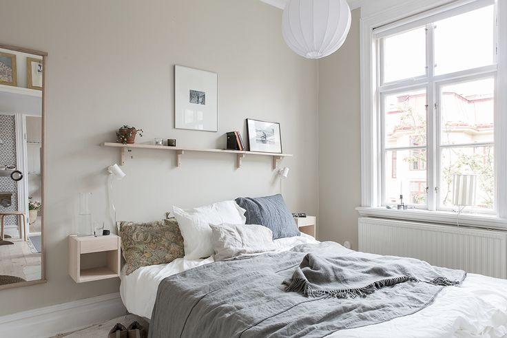Sovrummet ligger dock mot den lugna innergården