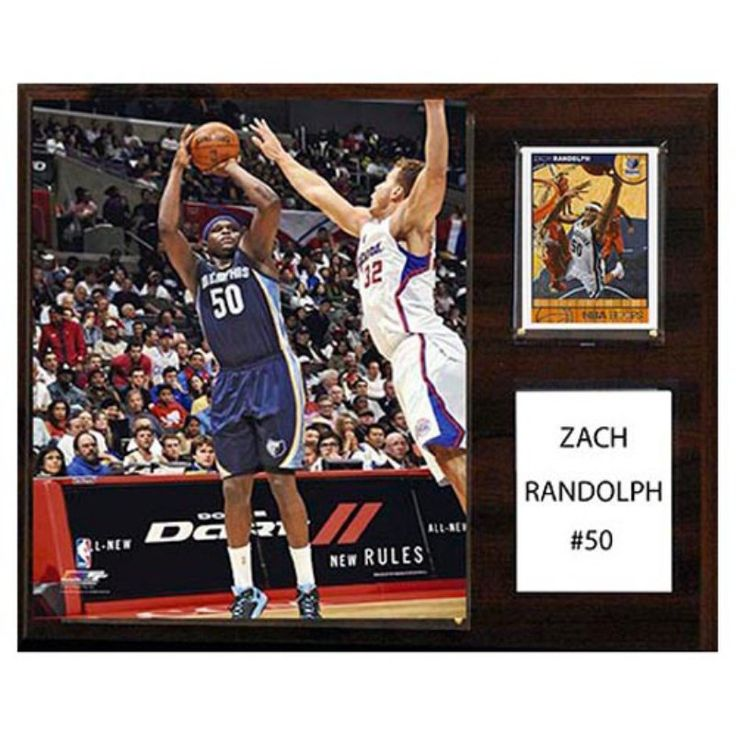 C and I Collectables NBA 15W x 12H in. Zach Randolph Memphis Grizzlies Player Plaque - 1215ZACHR