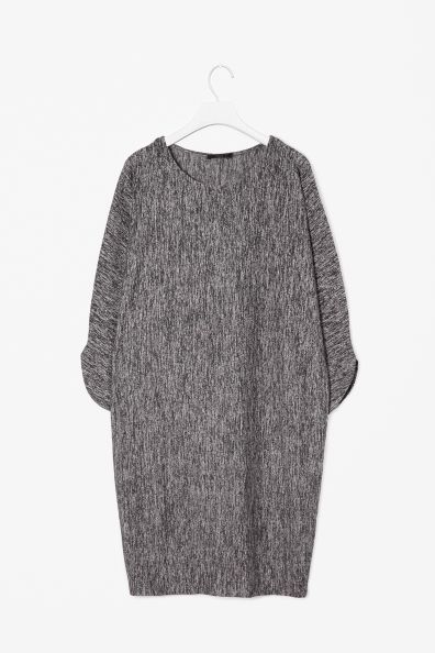 Melange jersey dress