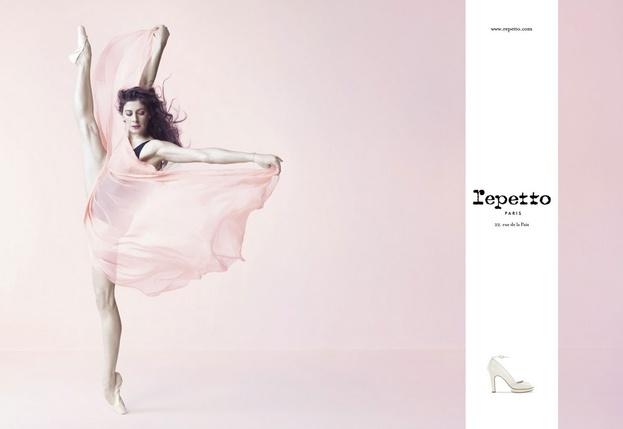 Repetto's Campaign with Marie-Agnès Gillot, Prima Ballerina.