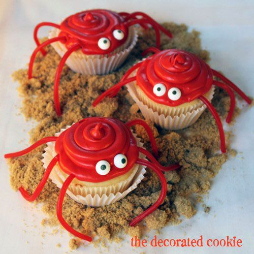 easy cupcake crabs for Celebrations