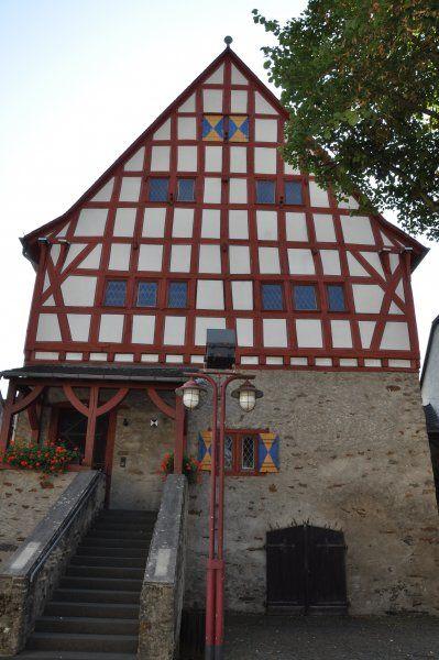 Das Rathaus in Dausenau bei Bad Ems ist das zweitälteste Fachwerk-Rathaus von Deutschland