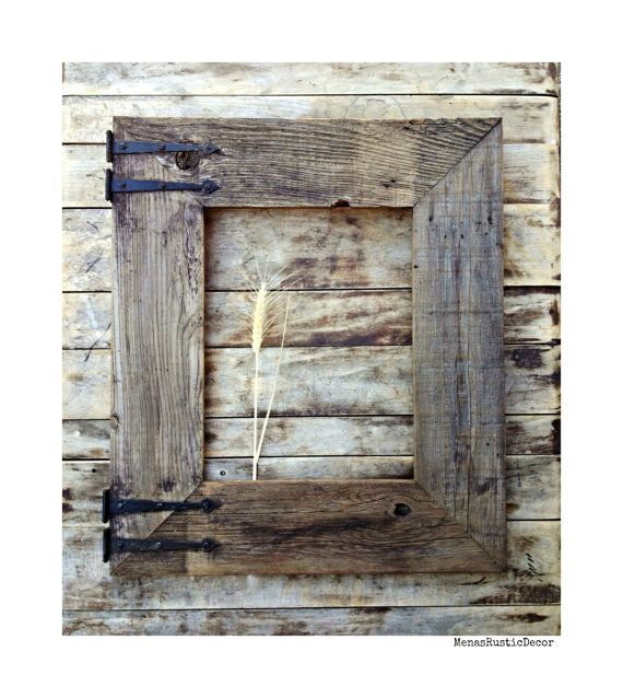 Handmade reclaimed barn wood frame for mirror large for Rustic home decor and woodworking