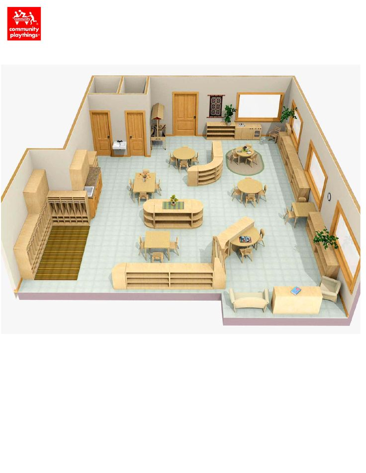 17 best images about montessori classroom floor plans and for Small daycare floor plans