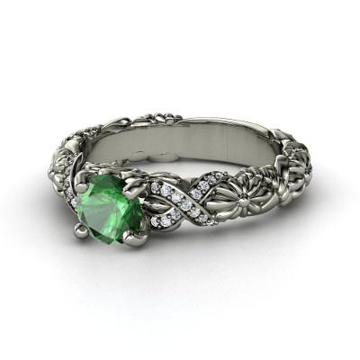 Sailor Knot Ring With Aquamarine
