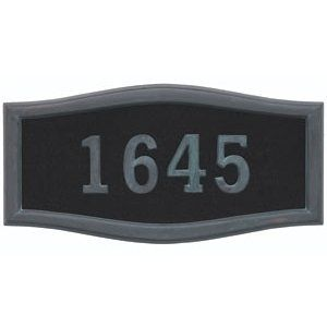 Gaines Address Plaques: Black with Verde Brass Housemark Large by Gaines Manufacturing. $129.00. VERDE BRASS ACCENTS DISCONTINUED PER GAINES 04022012 MAB