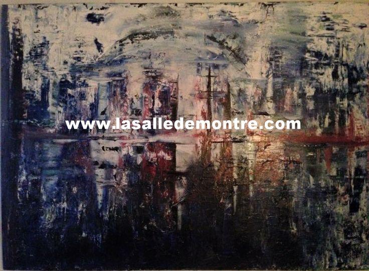 Josée Bernaquez, artiste LSDM Nébuleuse Cité 83 x 58   // 1 900 $  http://lasalledemontre.com/jose-bernaquez/nbuleuse-cit