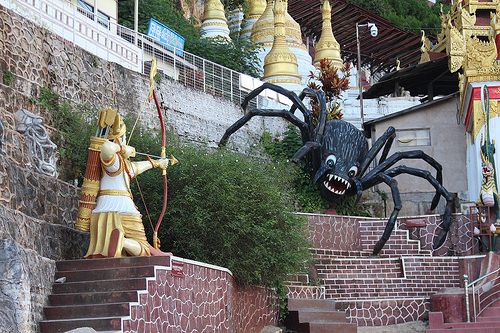 Pindaya caves | The valiant archer who shot the giant spider… | Flickr