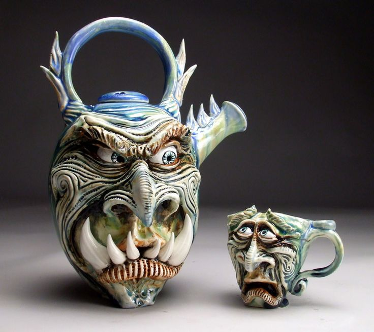 Mitchell Grafton Monster Teapot And Teacup Ceramic