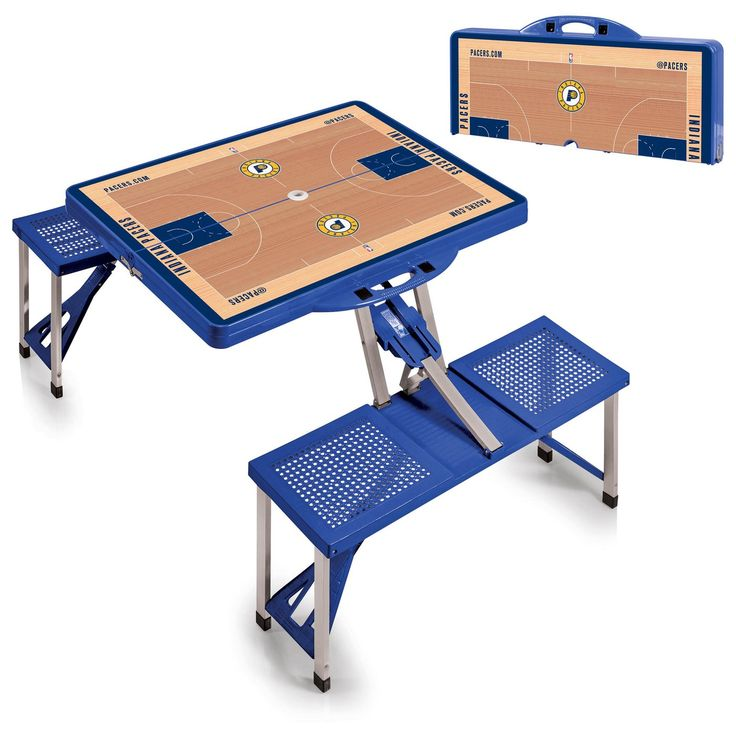 The Portable NBA Blue Indiana Pacers Picnic Table Sport is a compact fold-out table with bench seats for four that you can take anywhere. Free Shipping. Visit SportsFansPlus.com for Details.