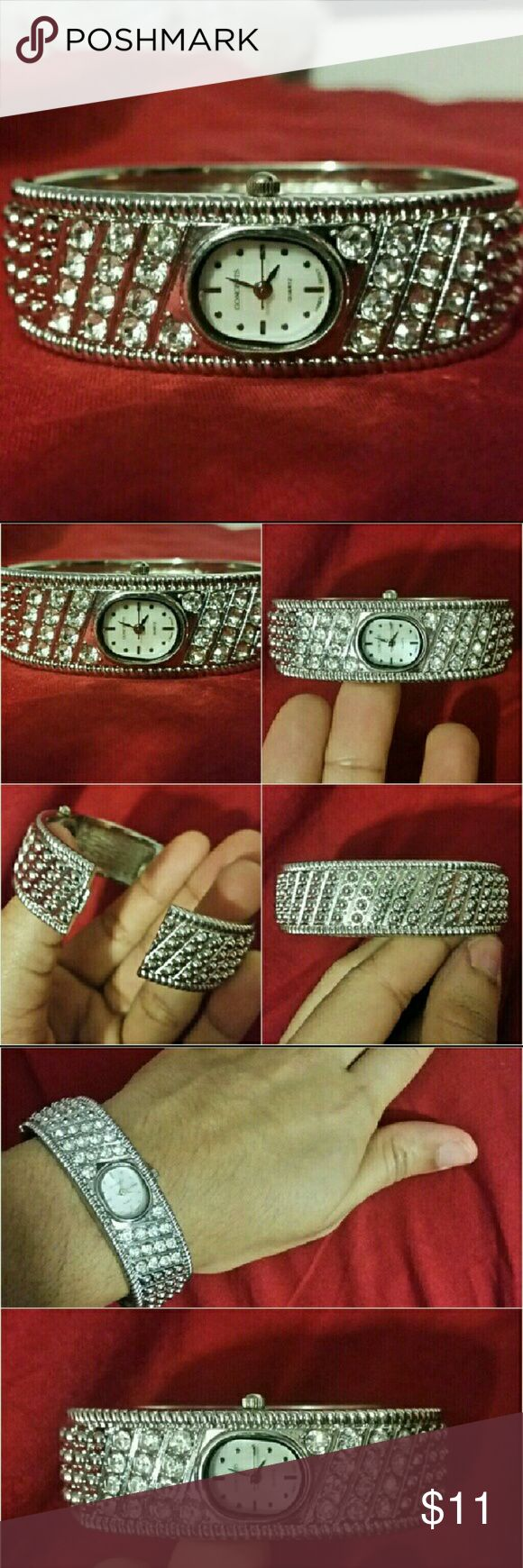 Silver women Bracelet watch New bracelet watch Material: Stainless still, color: Silver Accessories Watches